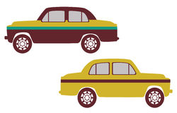 Indian taxi. View of taxi of india with white background Royalty Free Stock Photos