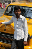 Indian taxi driver Royalty Free Stock Images