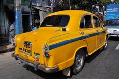 Indian Taxi in Traffic Jam stock photography