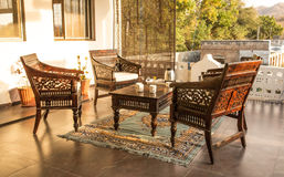 Indian tea chairs Royalty Free Stock Image