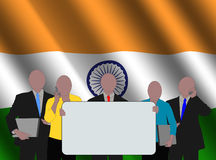 Indian team with flag Royalty Free Stock Images