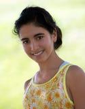Indian teen girl. Indian thirteen year old girl smiling Royalty Free Stock Photo
