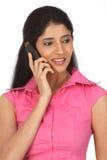 Indian  teenage girl  calling Stock Photography