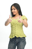 Indian teenage girl in challenge expression Stock Photos