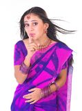 Indian teenage girl saying silent. With jewels Royalty Free Stock Photo