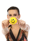 Indian Teenage girl with smile ball Stock Photos