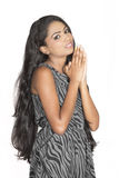 Indian teenager praying Royalty Free Stock Photo