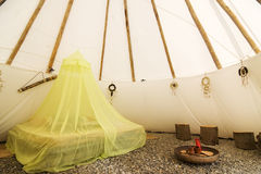 Indian teepee interior Stock Image