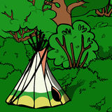 Indian teepee Royalty Free Stock Photography