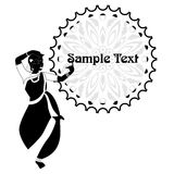 The indian template black Royalty Free Stock Image
