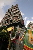 Indian Temple. With an elephant in the front Royalty Free Stock Photo