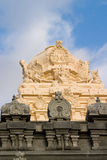 Indian temple 2. An ornate sculpture on the roof of an Indian temple royalty free stock photography
