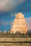 Indian temple. An ornate sculpture on the roof of an Indian temple royalty free stock photo