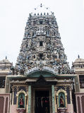 Indian temple with beautiful architecture. Indian temple stand tall amongst the chaos humans create by chasing their desires. The temple architecture is strongly Stock Photo