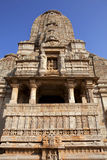 Indian temple in Chittorgarh - India. Rich decorated Indian Hindu temple in Chittorgarh - Rajasthan - India Royalty Free Stock Photos