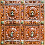 Indian Temple Door Detail. Singapore Royalty Free Stock Photography