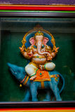 The Indian temple. Ganesh. Multi-colored sculpture. Kuala Lumpur, Malaysia. Royalty Free Stock Photography