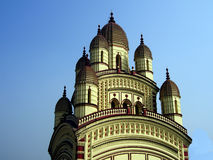 Indian temple in Kolkata. A view of the beautiful architecture of a temple in Kolkata (formerly Calcutta), India Stock Image