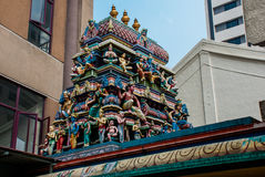 The Indian temple.Kuala Lumpur, Malaysia. Royalty Free Stock Images