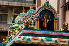 The Indian temple. Kuala Lumpur, Malaysia. Stock Image