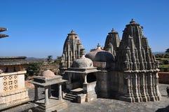 Indian temple Kumbhalgarh fort stock photos