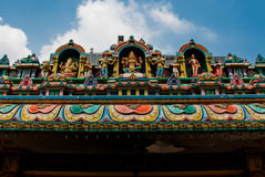 The Indian temple. Multi-colored sculpture. Kuala Lumpur, Malaysia. Stock Image