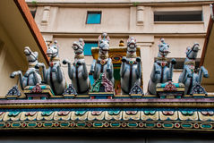 The Indian temple. Multi-colored sculpture. Kuala Lumpur, Malaysia. Stock Images