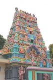Indian Temple Religious Holy Grounds. Indian Temple with brightly coloured depictions of gods royalty free stock photo