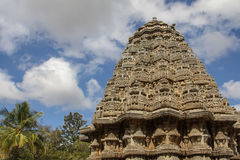 Indian Temple Shrine. Hoysala empire style of architecture Somnathpur stock photo
