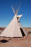 Indian tent. White indian tent by Grand Canyon Royalty Free Stock Photo