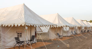 Indian tent Camp Royalty Free Stock Photo