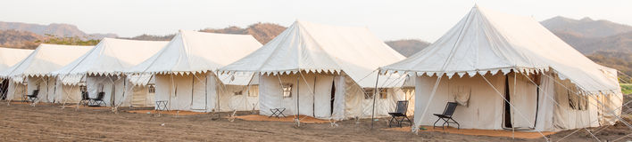 Indian tent Camp Royalty Free Stock Image