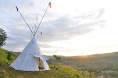 Indian tent. On the hill. Phetchabun of Thailand Stock Images