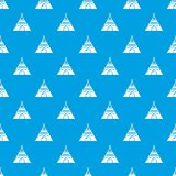 Indian tent pattern vector seamless blue. Repeat for any use Royalty Free Stock Photography