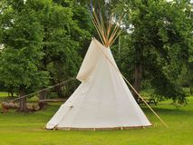 Indian tent tepee in children playground Stock Photo