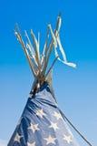 Indian Tepee. Against blue sky Royalty Free Stock Photos