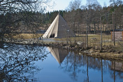 Indian tepee. Copy of an Indian tepee, built on a place at Strømsfoss in Aremark Royalty Free Stock Images