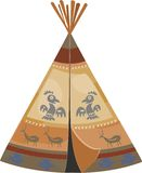 Indian tepee. With ornamental pattern Stock Photo
