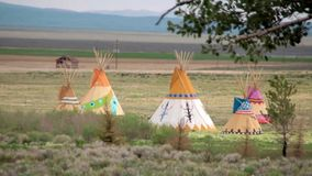 Indian Tepees stock video