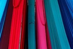 Indian textile industries wonderful colors. Royalty Free Stock Photography