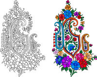 Indian textile motif Stock Images