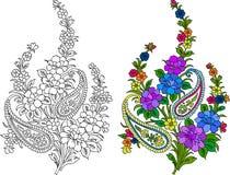 Indian textile motif Stock Photos