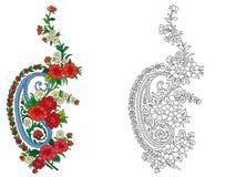 Indian textile motif Stock Photography
