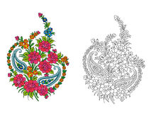 Indian textile motif Royalty Free Stock Images