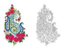 Indian textile motif Stock Images