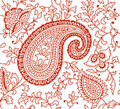 Indian Textile Pattern Brown Royalty Free Stock Photo