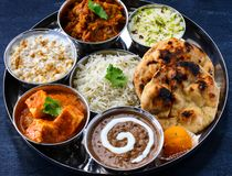 Punjabi vegetarian main course for lunch royalty free stock photos
