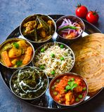 Indian thaali Stock Images