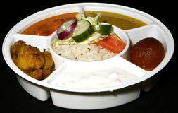 Indian thali combo Royalty Free Stock Photo