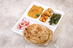 Indian Thali with Masala Bhandi Royalty Free Stock Image